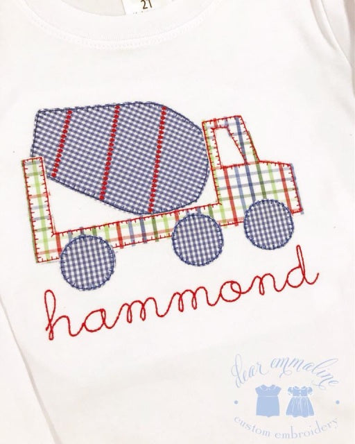 Cement Mixer Applique Shirt