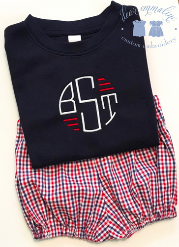 Boys Patriotic Monogram Shirt