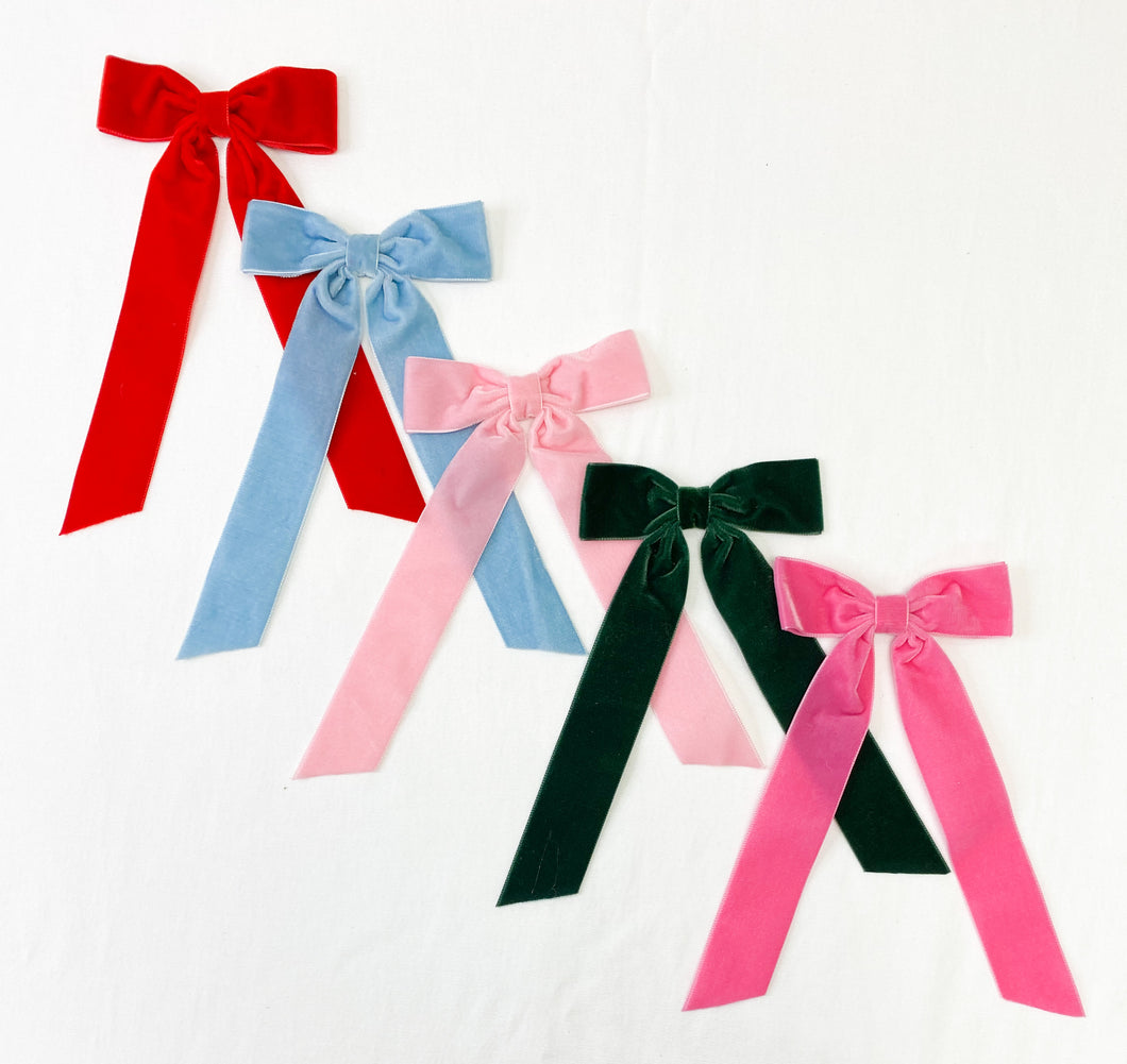 Medium Velvet Ribbon Bow
