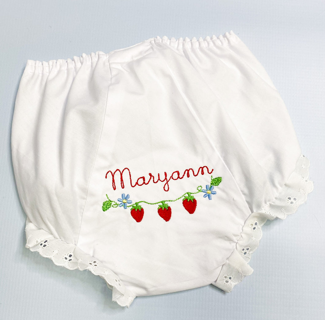 Classic White Eyelet Bloomers