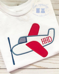 Prop Plane Applique