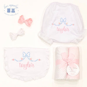 """Taylor"" Bib and/or Bloomers"