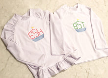 Load image into Gallery viewer, Girls White Rashguard