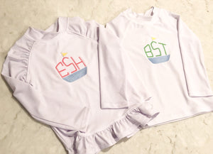Girls White Rashguard