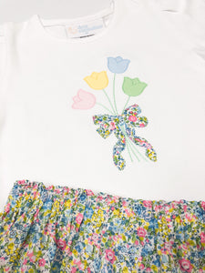 Spring Blooms Applique Shirt