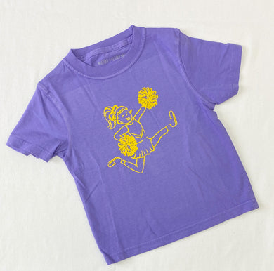 Purple & Yellow Cheerleader Tee