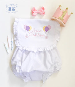 Birthday Balloons Bib