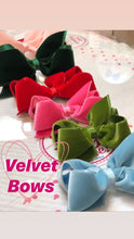 Load image into Gallery viewer, Velvet Bows by WeeOnes