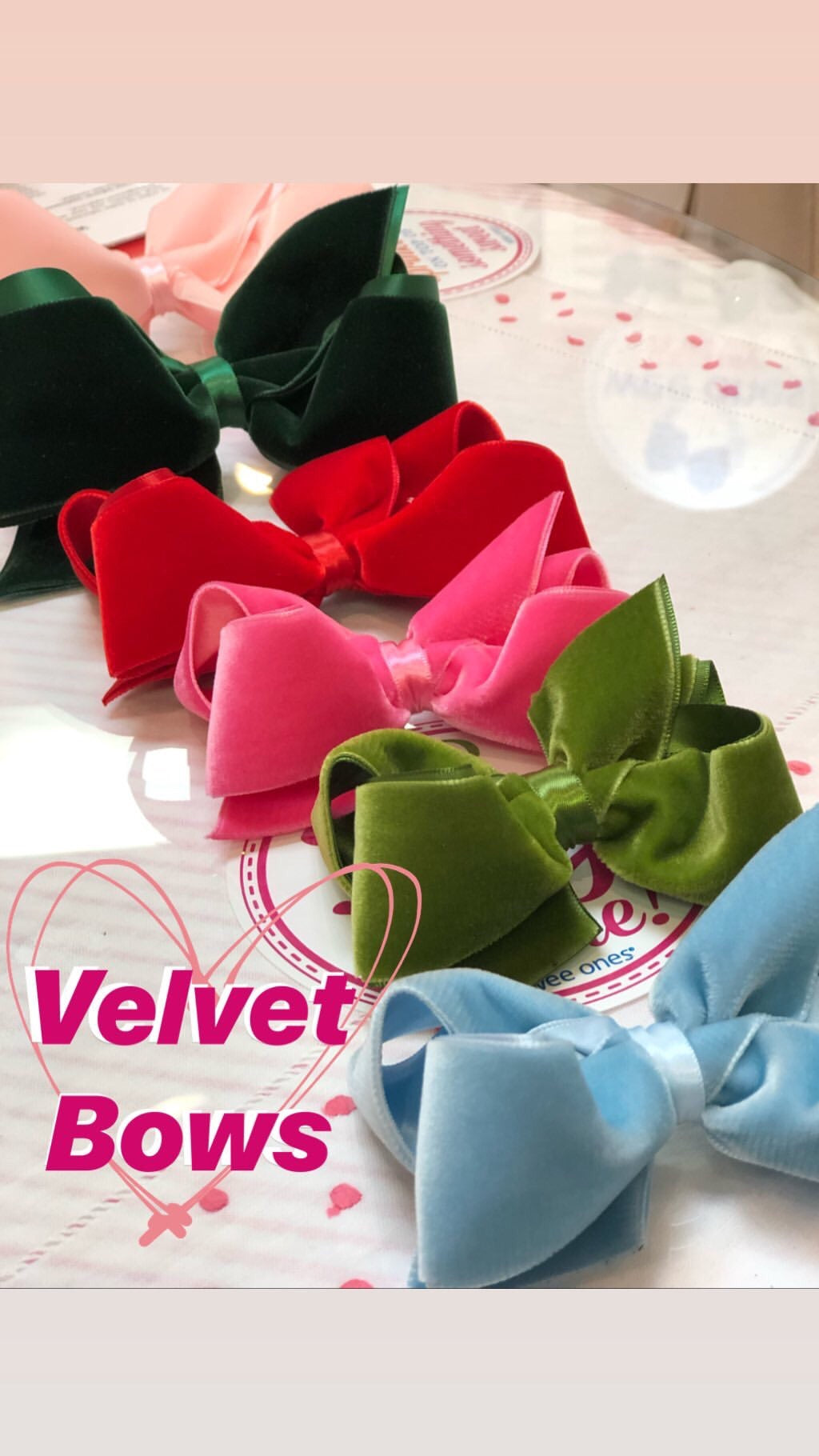 Velvet Bows by WeeOnes