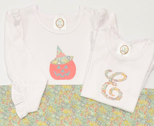 Scallop Applique Initial Shirt