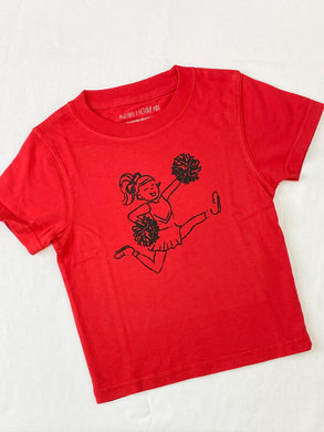 Red & Black Cheerleader Tee