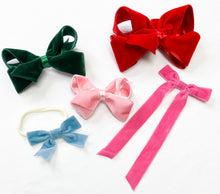 Load image into Gallery viewer, Narrow Velvet Ribbon Bow