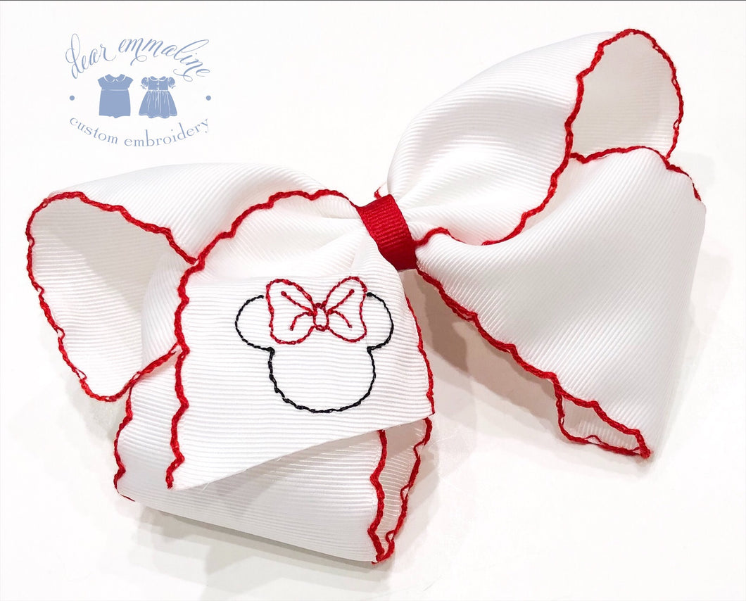 Moonstitch Bow with Minnie Embroidery