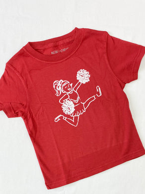 Crimson & White Cheerleader Tee