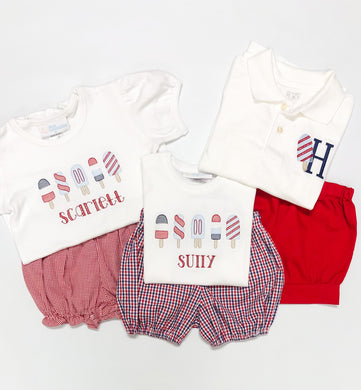 Patriotic Popsicle Initial Polo (Patriotic 2020)
