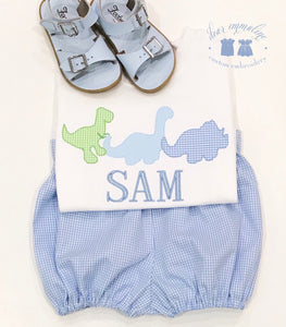 Sam's Dino Parade Applique Shirt