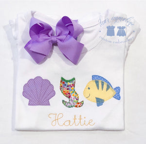 Mermaid Row Applique Shirt