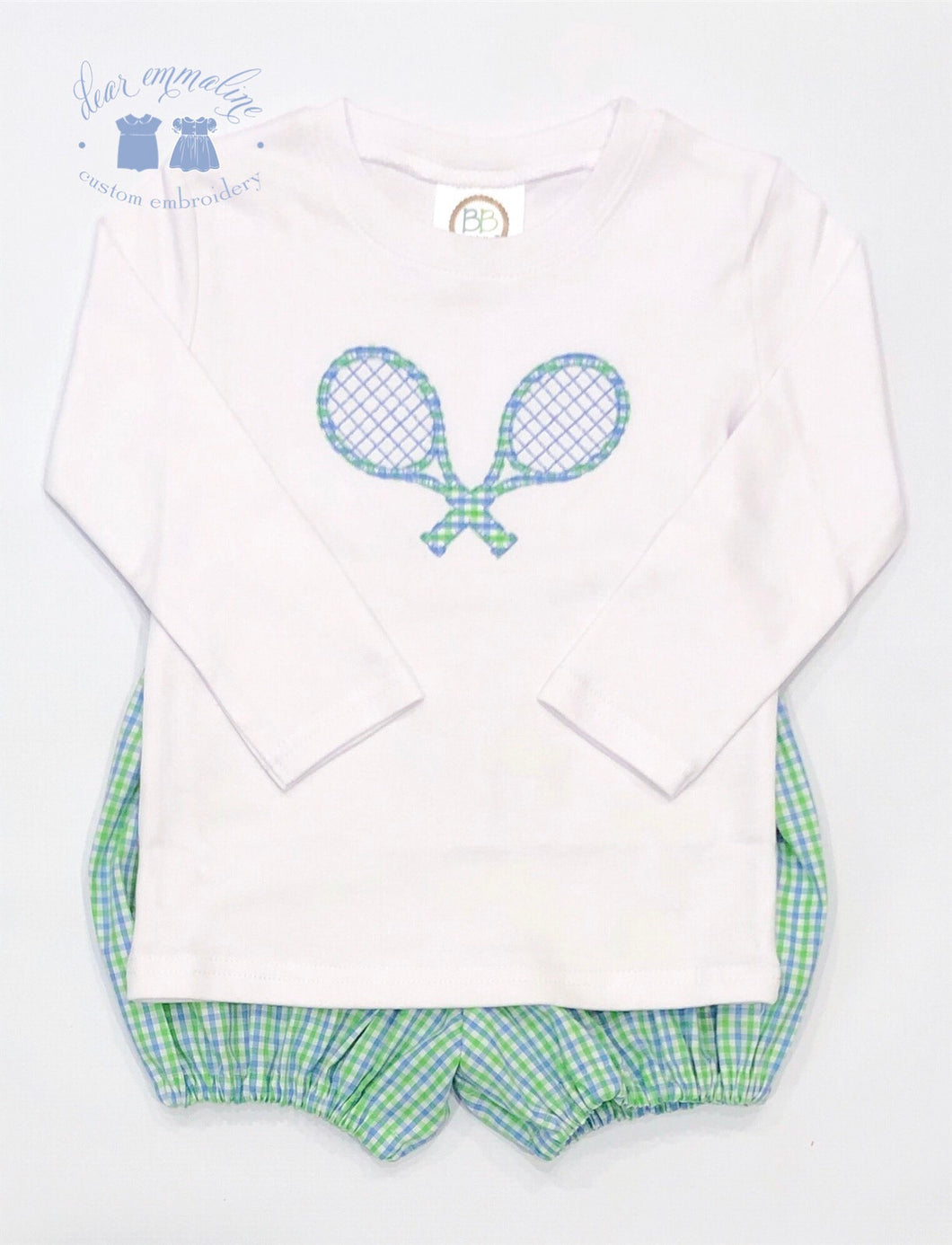 Boys Tennis Racquets Applique Shirt