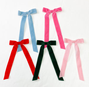 Narrow Velvet Ribbon Bow