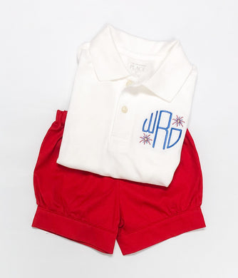 Patriotic Monogram Polo (Patriotic 2020)