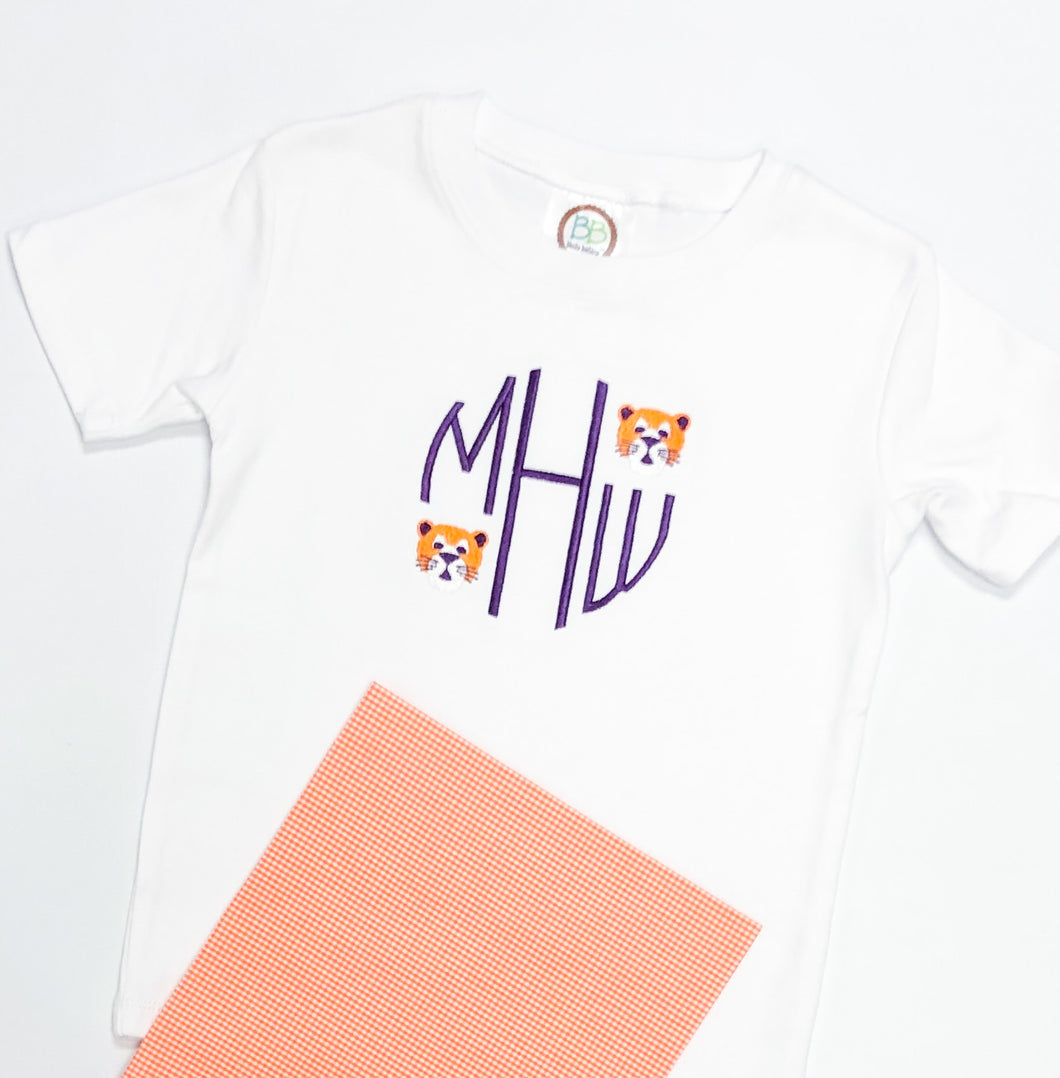Boys School Spirit Non Applique Monogram Shirt