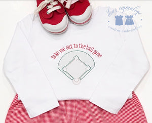 Baseball Diamond Shadow Embroidery Shirt