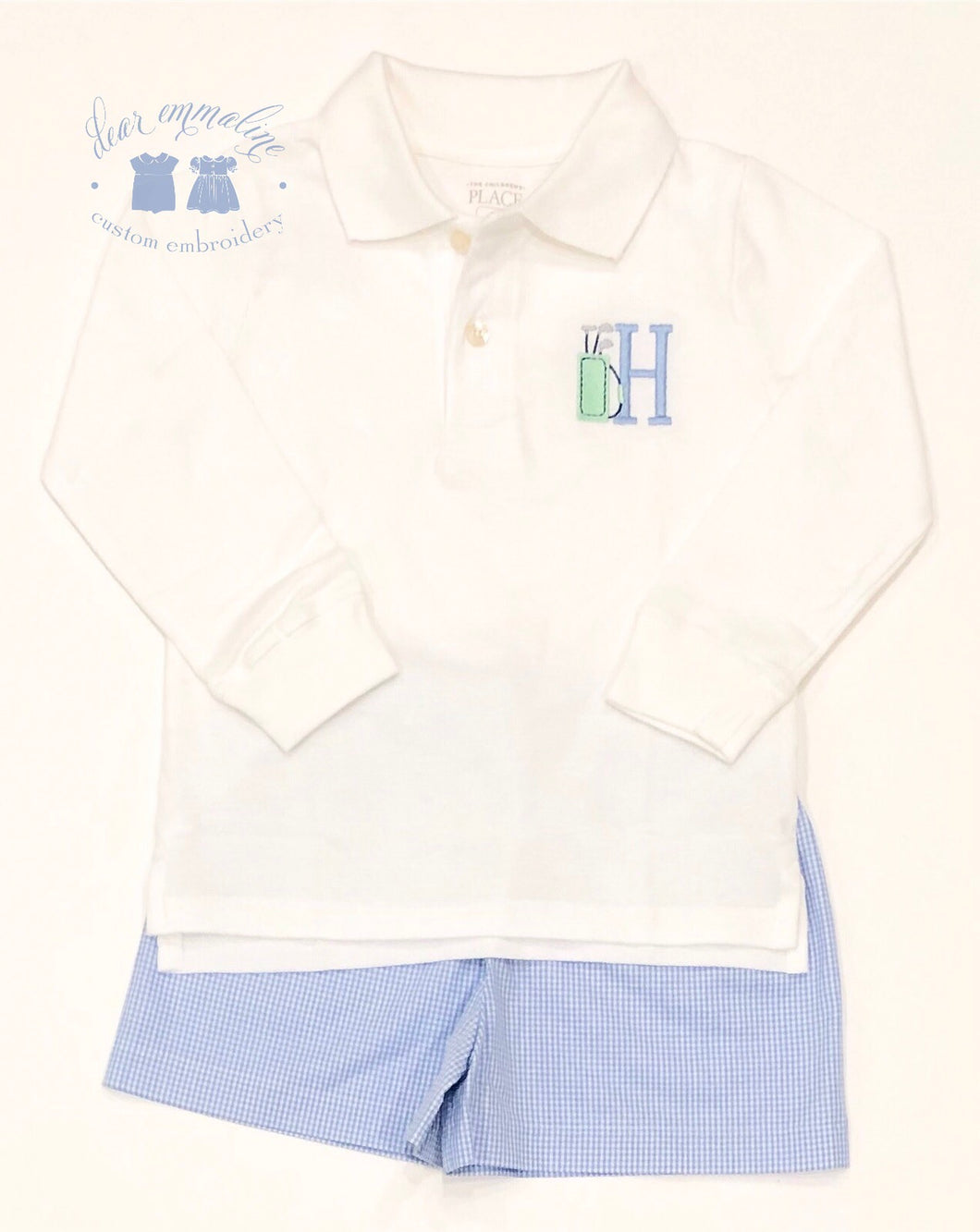 Boys Initial Golf Bag Polo