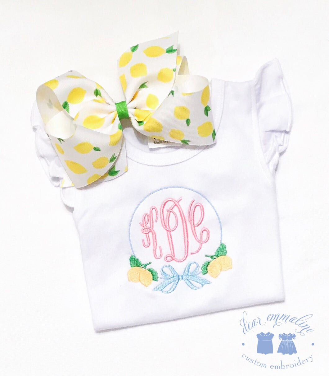 Lemon Monogram Shirt