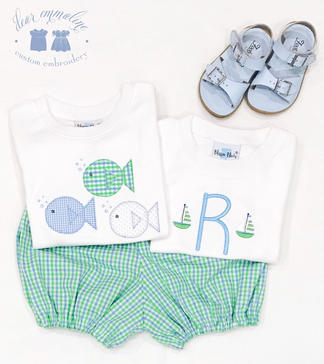 Mini Sailboats Initial Shirt