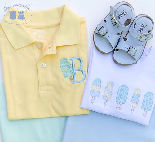 Boys Summer Popsicle Polo (Yellow or White)