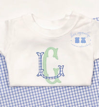 Load image into Gallery viewer, Boys Two Letter Monogram Applique Shirt