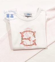 Load image into Gallery viewer, Girls Two Letter Monogram Applique Shirt