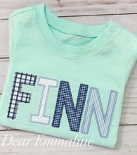 Load image into Gallery viewer, Bean Stitch Applique Name Shirt