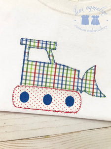 Bulldozer Applique Shirt