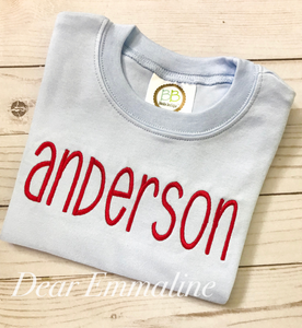 """Gray Font"" Custom Name Shirt"