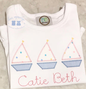 Confetti Dot Sailboat Trio Shirt