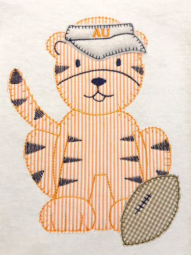 Auburn Tiger with Felt Visor (Boys & Girls) Shirt