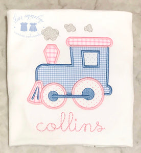 Girls Choo Choo Train Applique Shirt