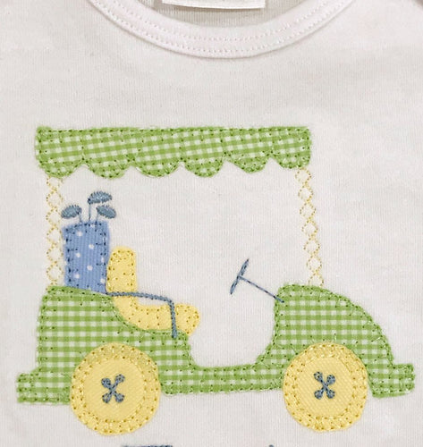 Boys Vintage Golf Cart Applique Shirts