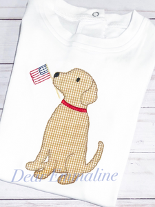 Patriotic Puppy Applique