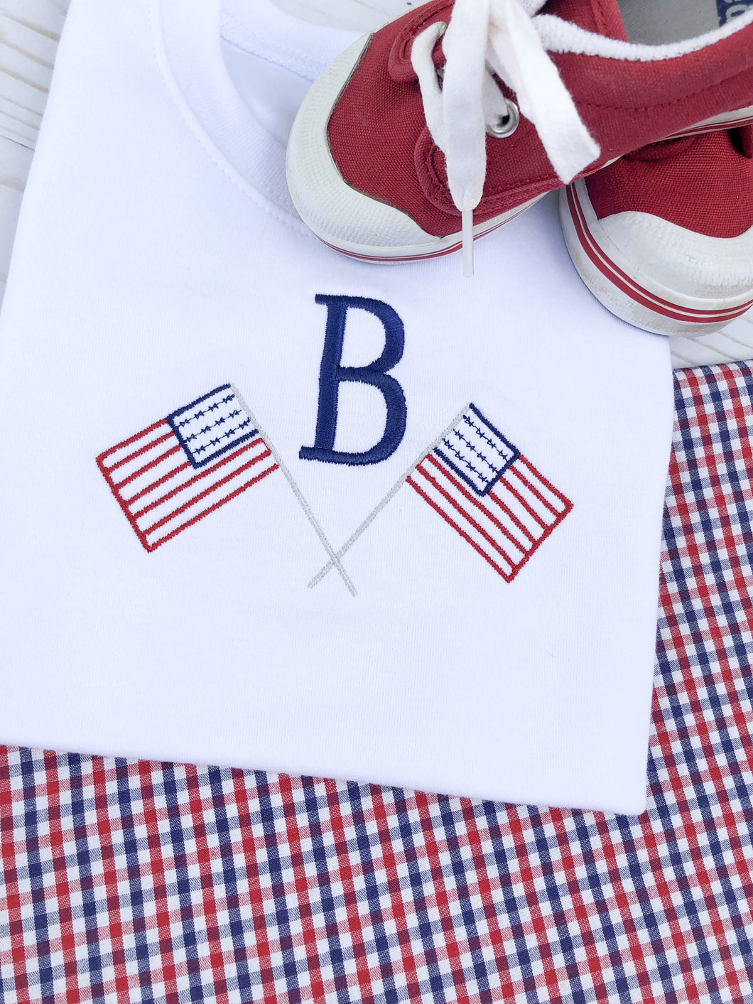 American Flag Monogram Shirt