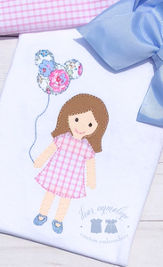 Girl Balloon Applique Shirt