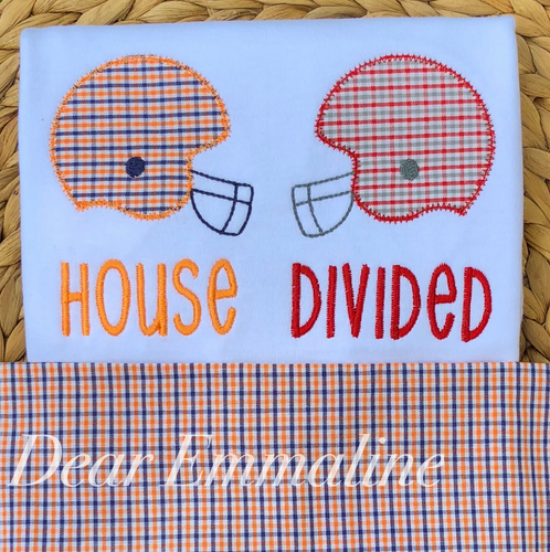 House Divided Football Helmet Shirt