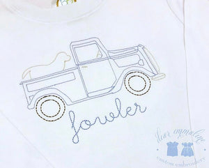 Vintage Truck with Lab Shirt