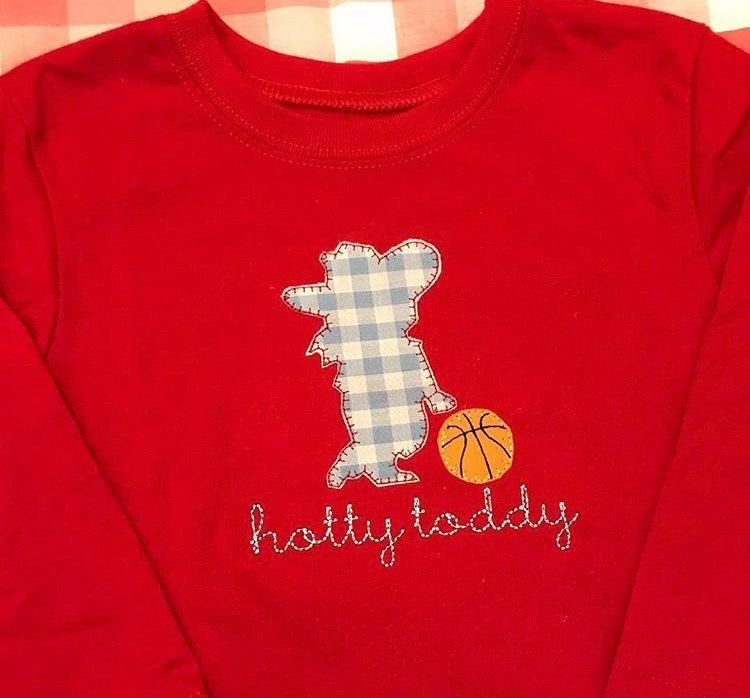 Hotty Toddy Basketball Applique Shirt