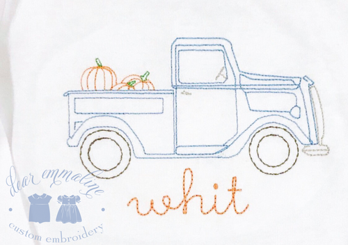 Vintage Truck with Pumpkins Shirt