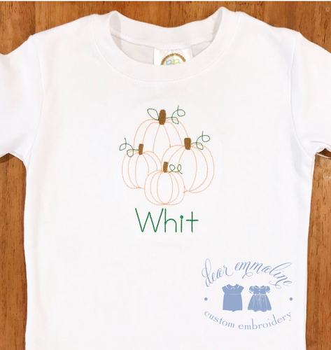 Vintage Stitch Pumpkin Bunch Shirt