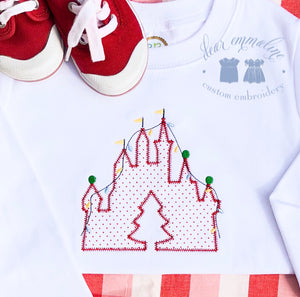 Christmas Castle Applique Shirt