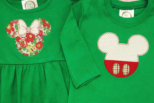 Girl Mouse Head Applique Shirt