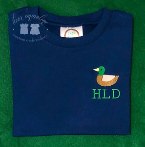 Boys Mallard Monogram Shirt